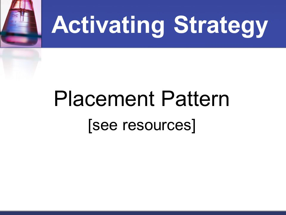 Activating Strategy Placement Pattern [see resources]